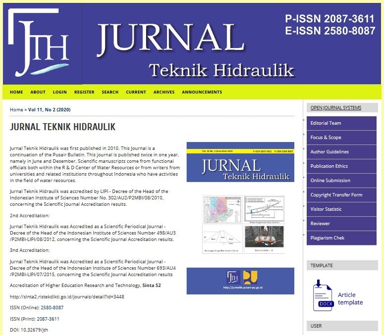 Jurnal Teknik Hidraulik Sumber Daya Air