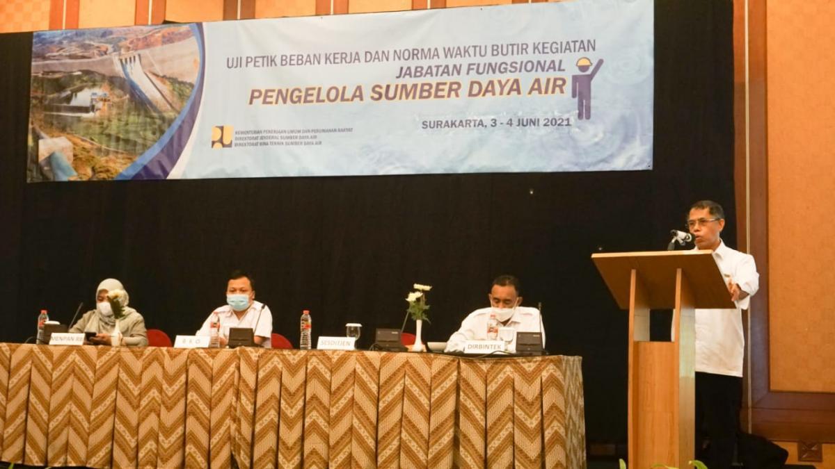 Uji Petik Beban Kerja dan Norma Waktu Butir Kegiatan Jabatan Fungsional Pengelola Sumber Daya Air Tahap II