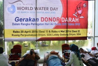 Dirjen SDA Sosialisasikan Gerakan Donor Darah