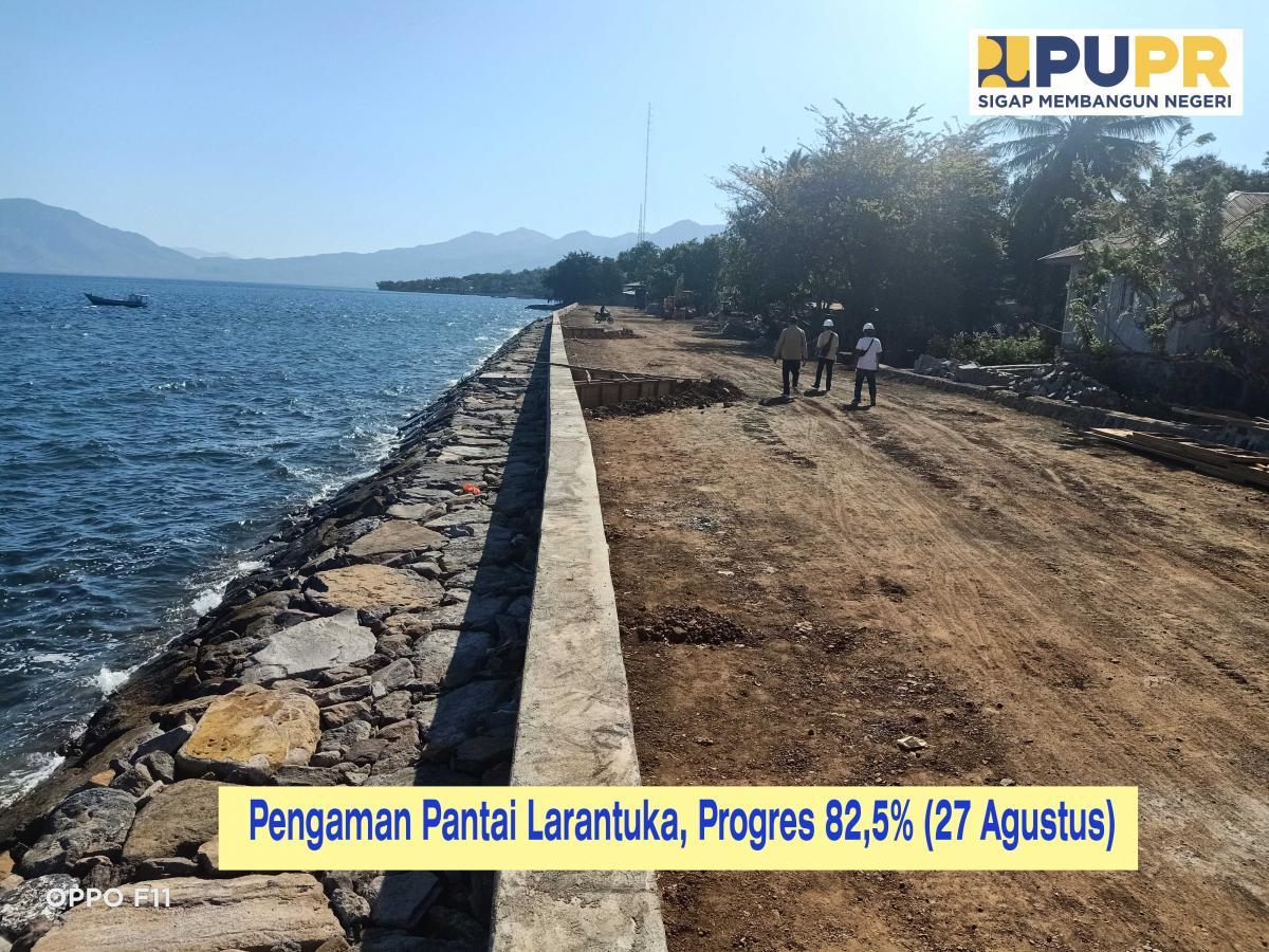 Pengaman Pantai Larantuka Progress 82,5 Persen