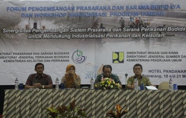 Kementerian PU dan Kementerian Kelautan dan Perikanan Kelola Tata Air Tambak