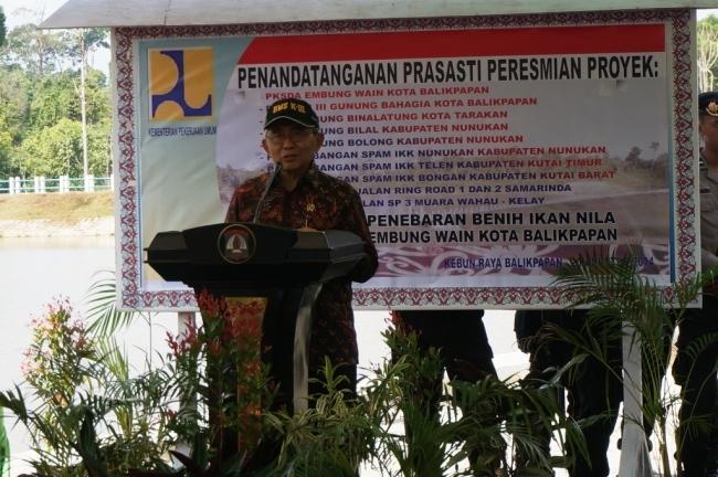 Menteri PU Resmikan Beberapa Proyek Infrastruktur Strategis di Kalimantan Timur