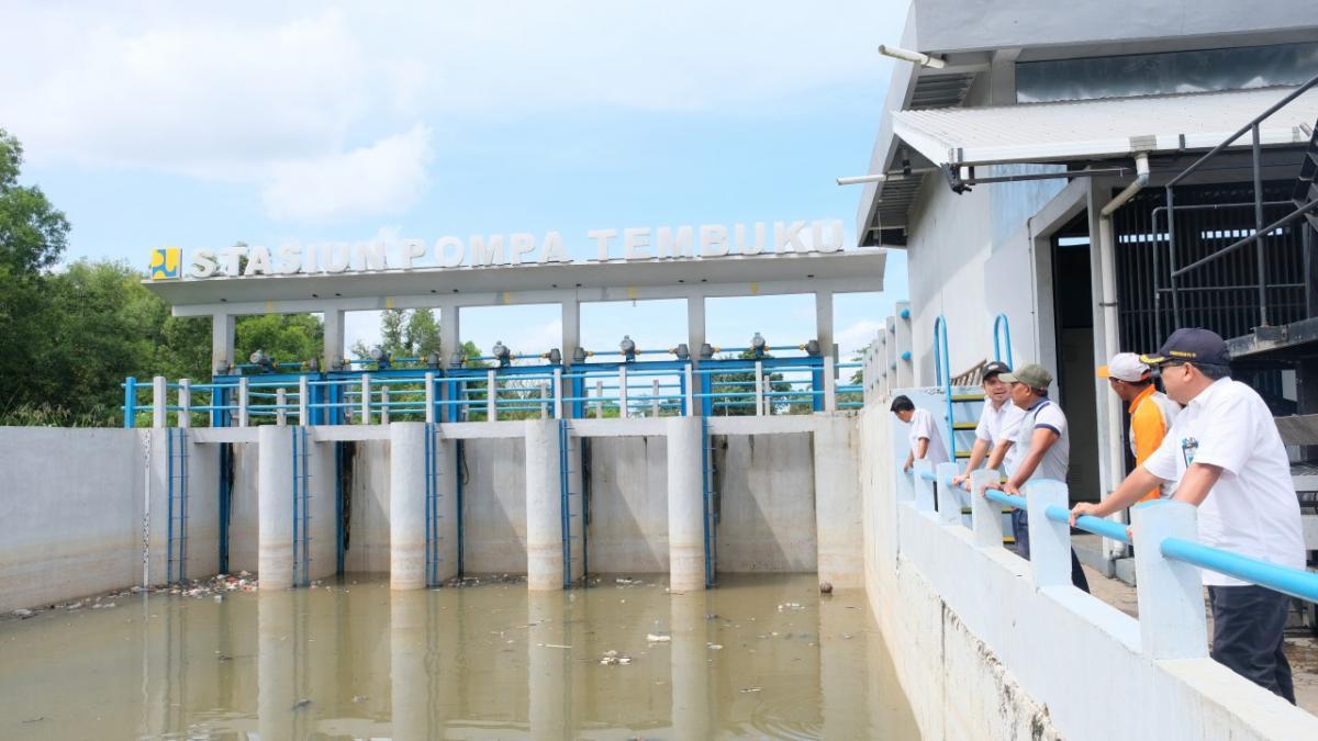 Inspeksi Balai Wilayah Sungai Sumatera VI di Stasiun Pompa Asam dan Stasiun Pompa Tembuku