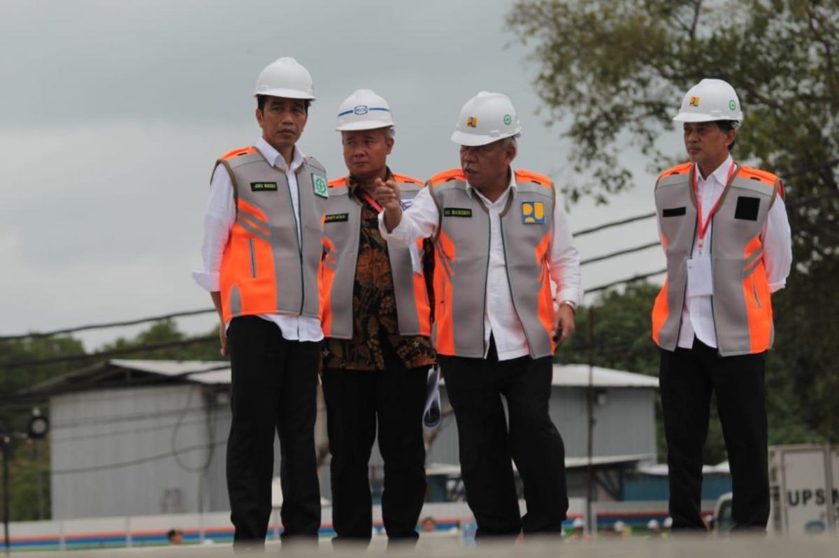 Jokowi Tinjau Waduk Muara Nusa Dua di Bali