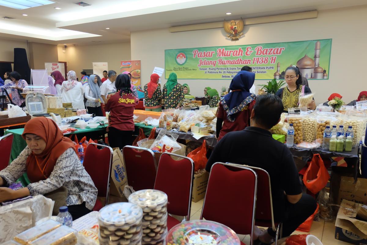 DWP PUPR Sambut Ramadhan Dengan Bazar