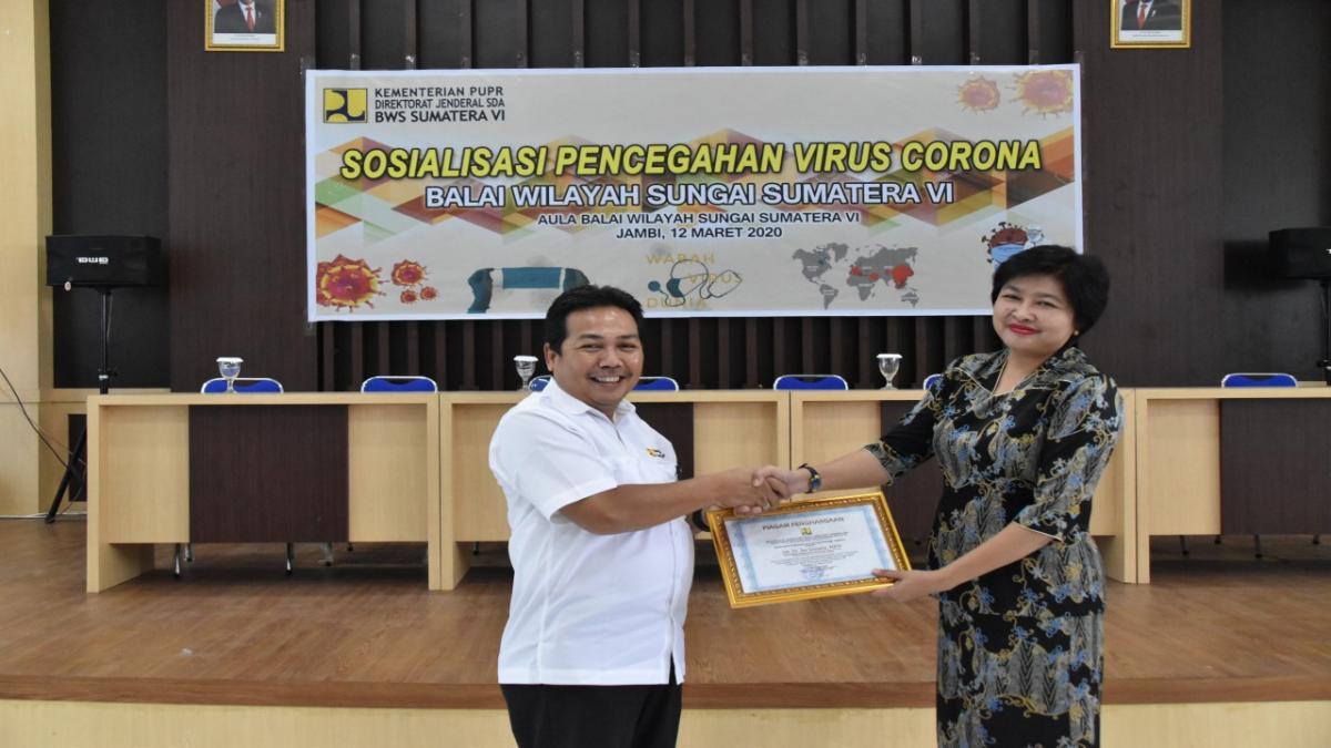 BWS Sumatera VI Sosialisasikan Pencegahan Virus Corona