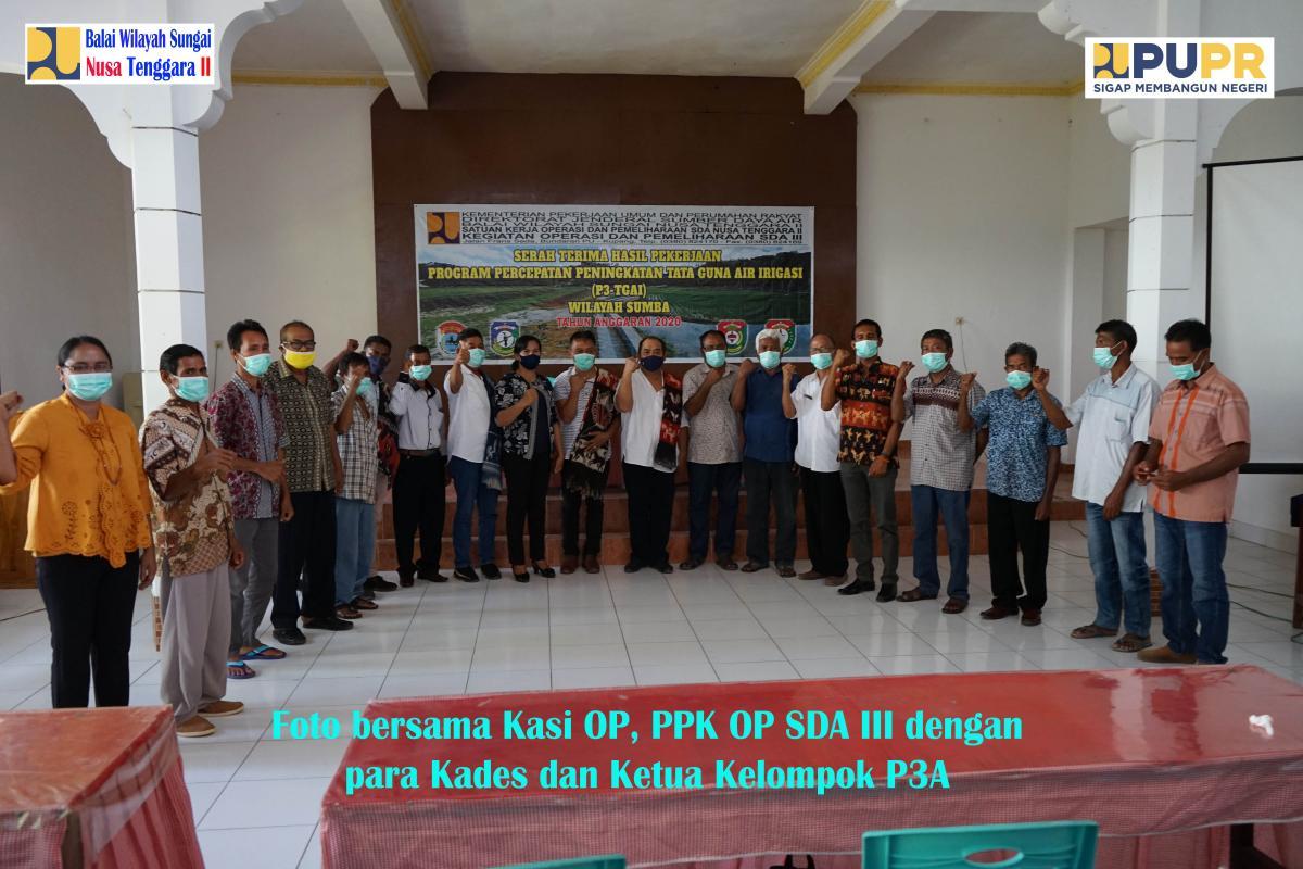 Serah Terima Pekerjaan P3-TGAI di Wilayah Sumba