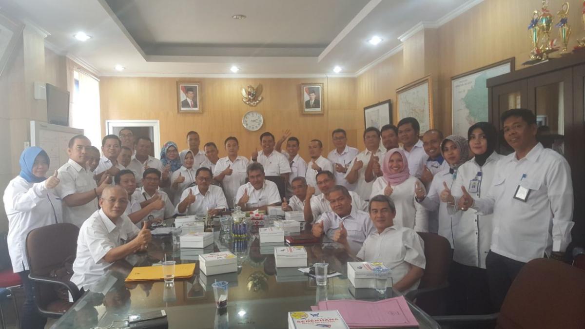 Transfer informasi kegiatan Kabalai Baru dengan Kabid, Kasatket dan PPK di BBWS Sumatera 8