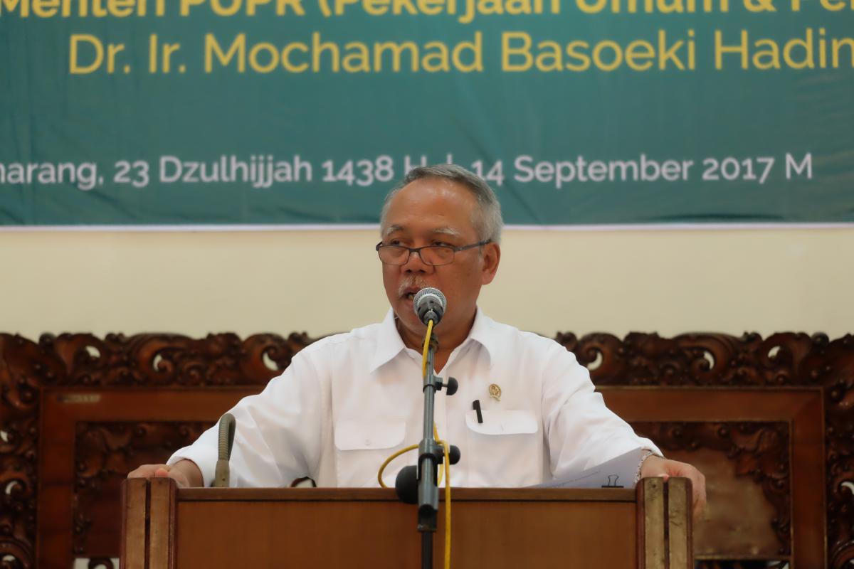 Menteri PUPR Basuki Paparkan Inovasi Infrastruktur Kepada Ribuan Mahasiswa
