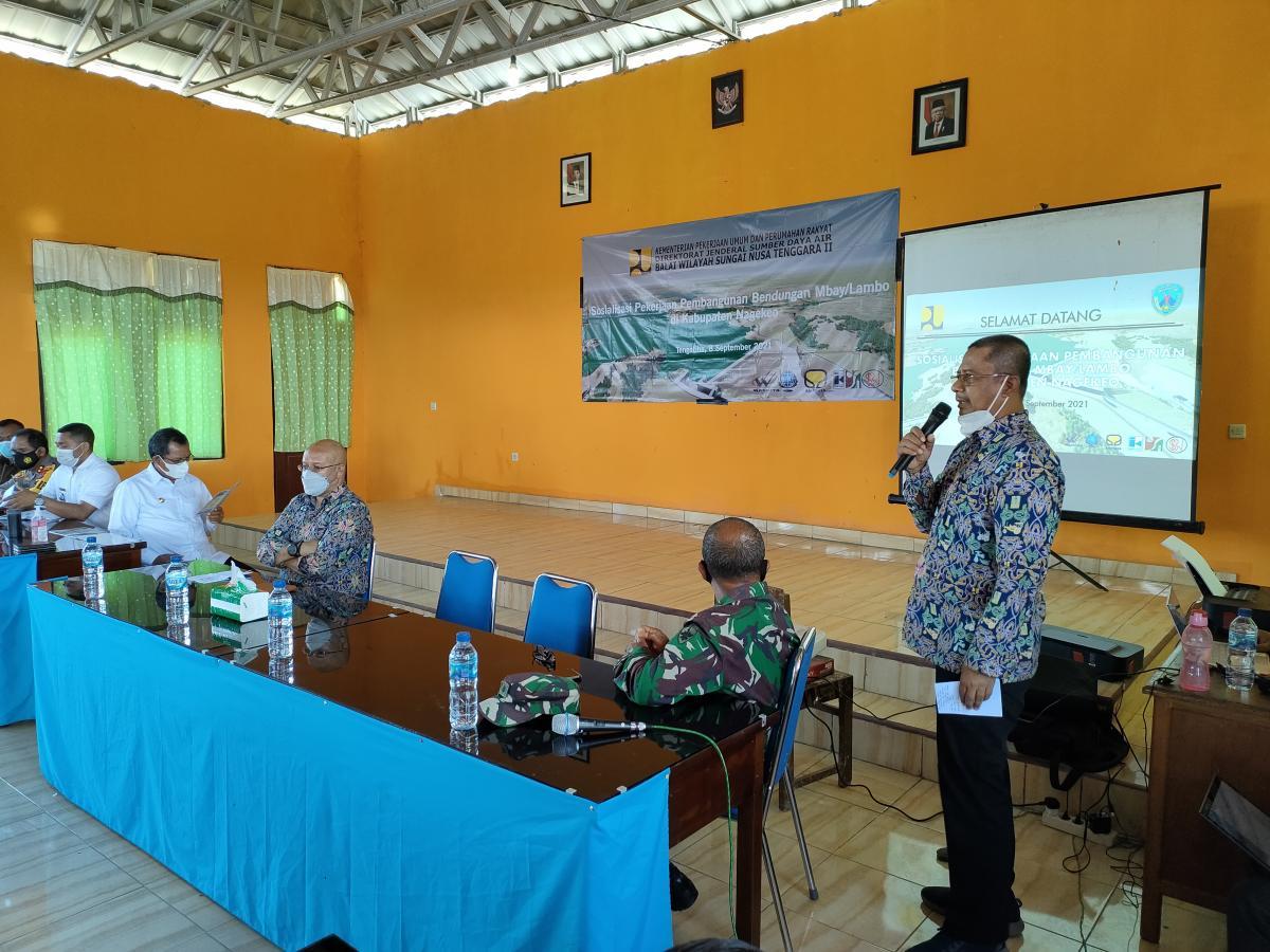 Sosialisasi Pelaksanaan Pembangunan Bendungan Mbay Lambo di Kabupaten Nagekeo Provinsi NTT
