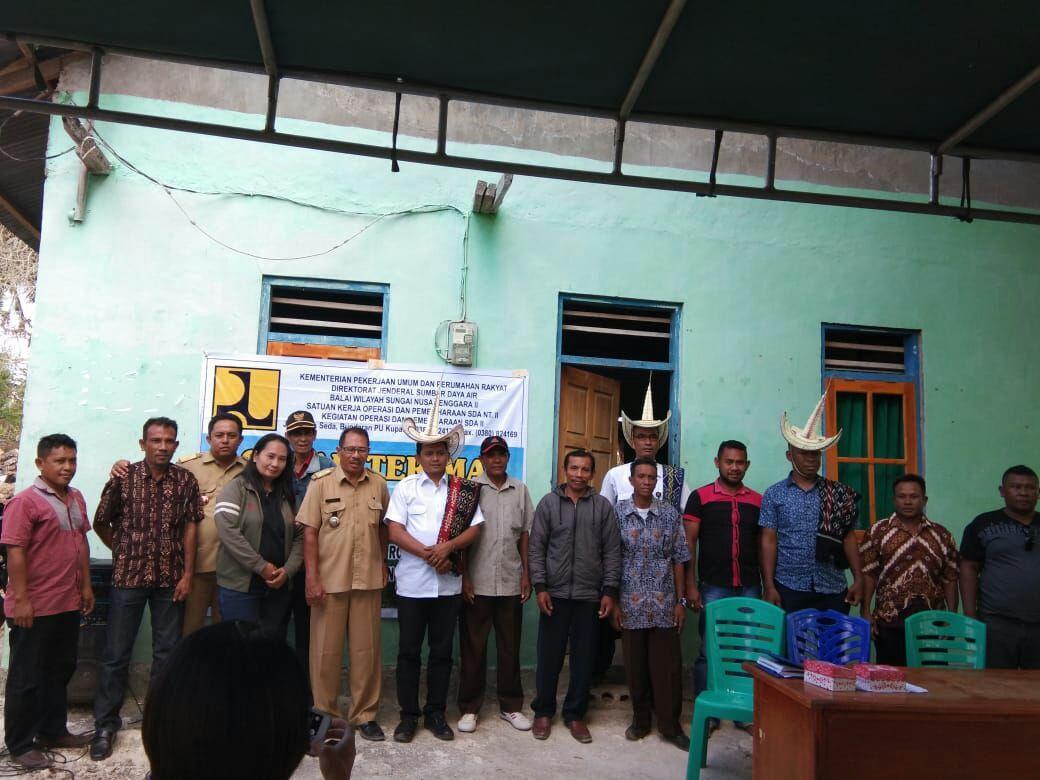 Penyerahan Pekerjaan P3TGAI di Kabupaten Rote Ndao Provinsi NTT