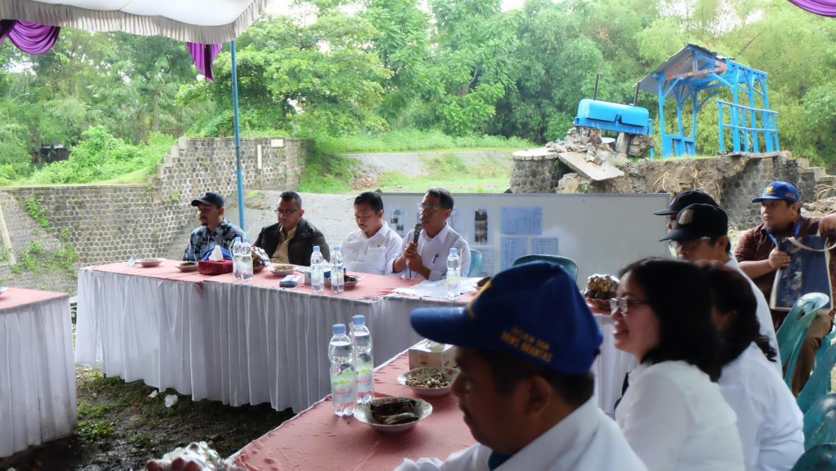 DPR RI Tinjau Tindakan Penanganan Darurat Bendung Plesungan