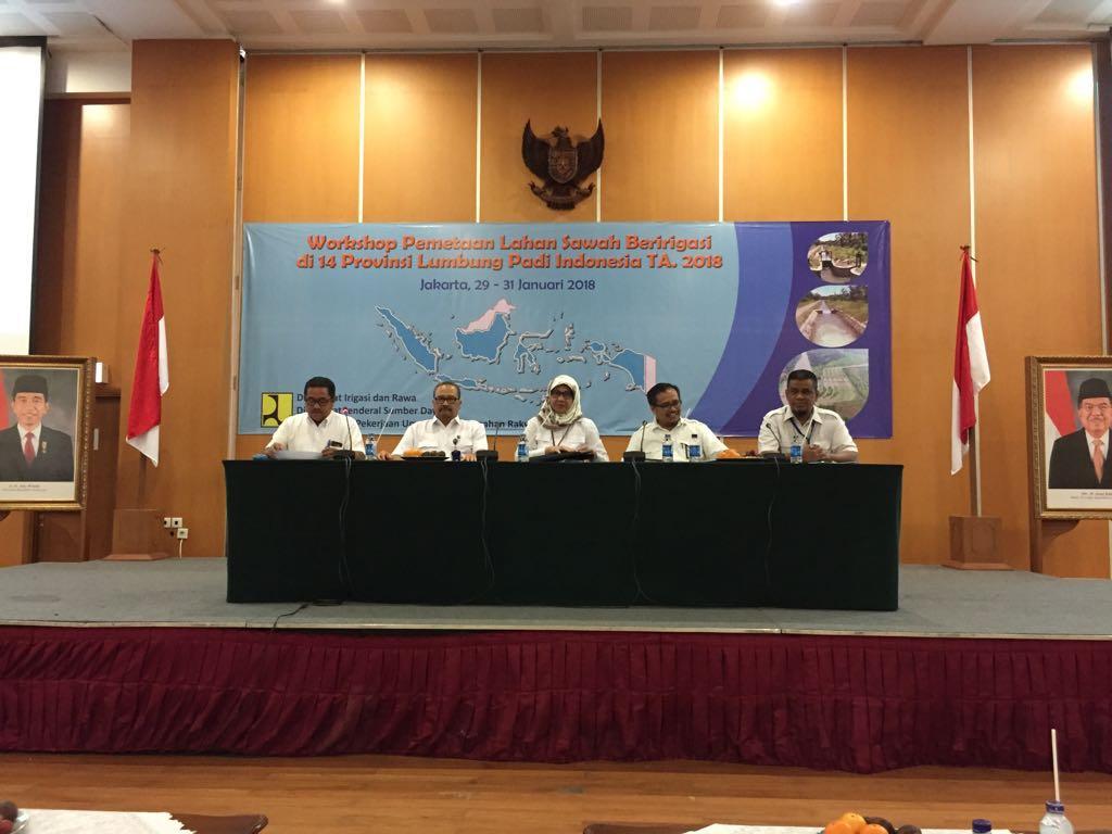 Workshop Pemetaan Lahan Sawah Beririgasi di 14 Lumbung Padi Indonesia