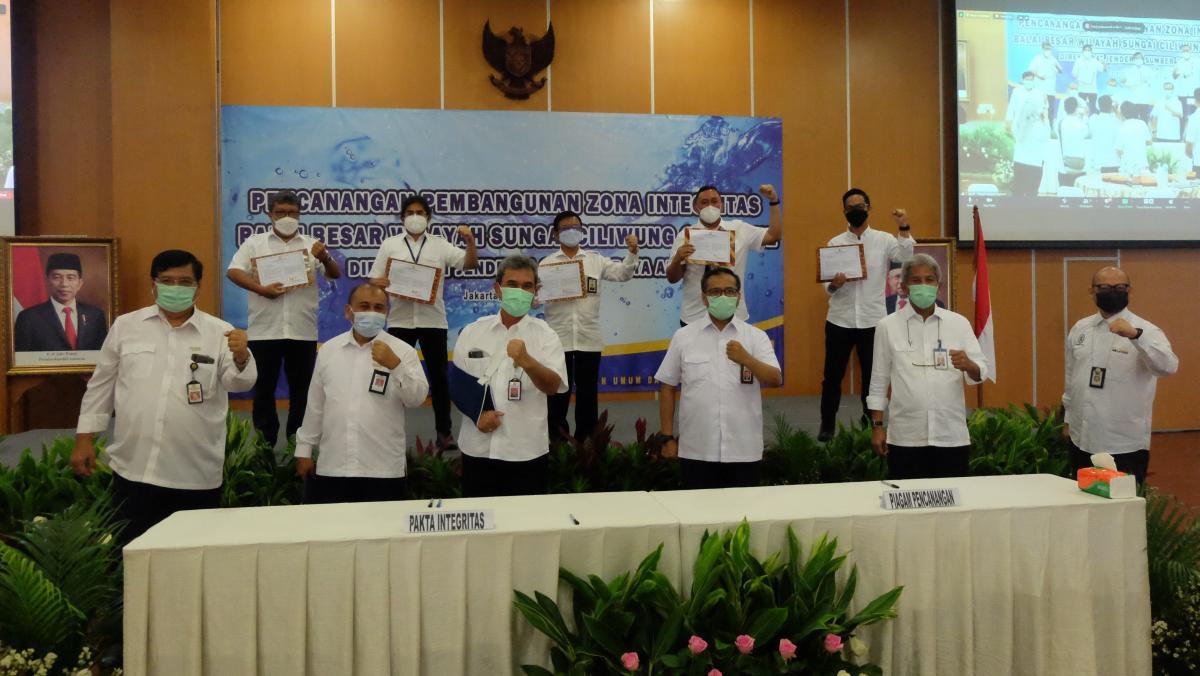 Pencanangan Pembangunan Zona Integritas BBWS Ciliwung Cisadane