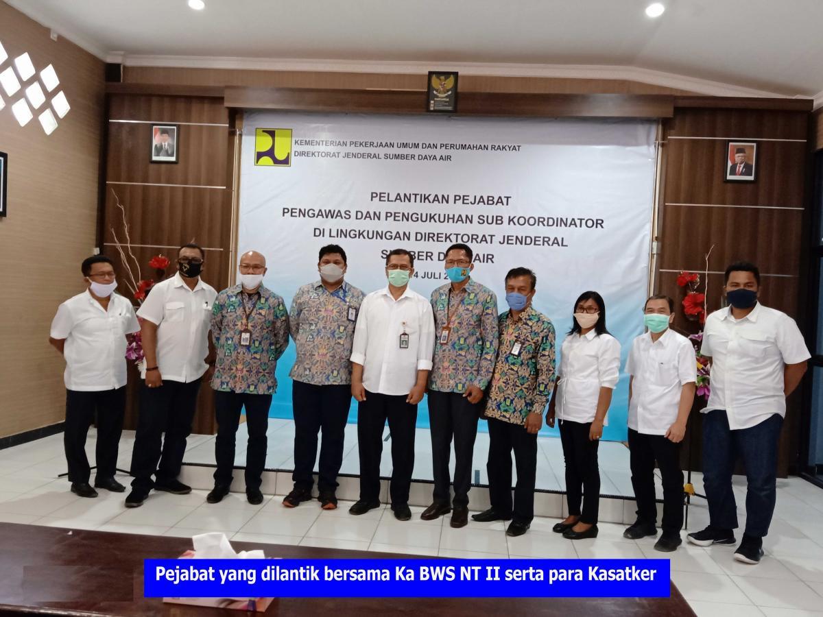 Pelantikan Pejabat Pengawas Lingkup BWS NT II
