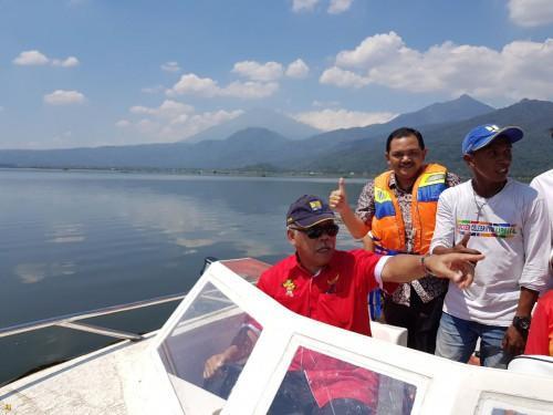Restorasi Tampakan Hasil Danau Rawa Pening Jadi Arena Lomba Dayung Popnas 2017