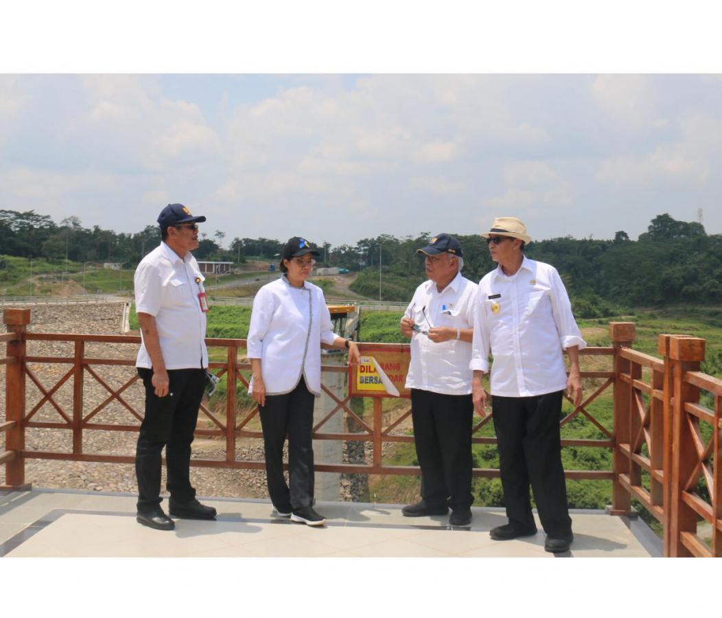 Menteri PUPR Kunjungi Pembangunan Bendungan Sindang Heula
