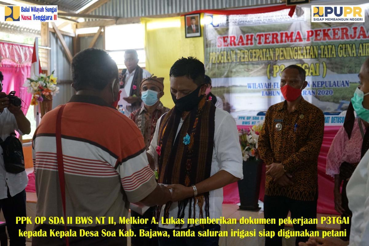 Serah Terima Pekerjaan P3TGAI Tahap I di Kecamatan Detusoko Kabupaten Ende