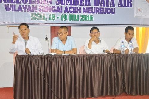 Sosialisasi Pola Pengelolaan Sumber Daya Air Wilayah Sungai Aceh Meureudu