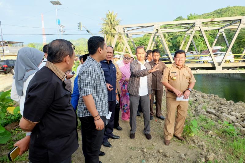 DPR RI Tinjau Pembangunan Penanggulangan Banjir Sungai Mamuju
