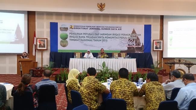 Sesditjen SDA Buka Pemilihan Petugas OP Irigasi dan Rawa Teladan 2015 Secara Resmi
