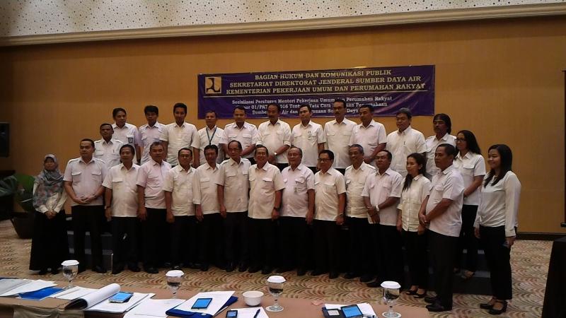Ditjen SDA Sosialisasikan Peraturan Menteri Tentang Perizinan Pengusahaan dan Penggunaan SDA
