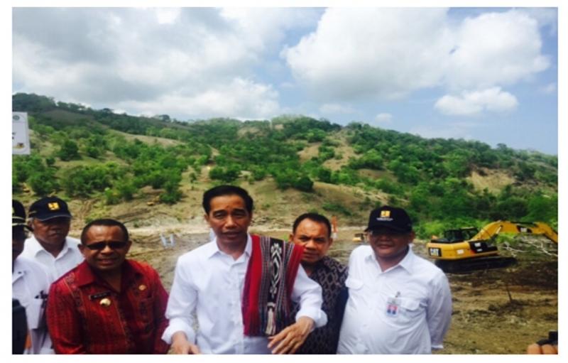 Presiden Jokowi Canangkan Pembangunan Bendungan Rotiklot di NTT