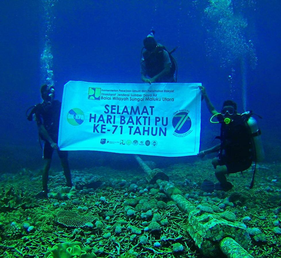 BWS Maluku Utara Kibarkan Semangat Kerja Nyata di Bawah Laut