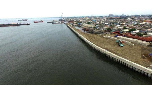 Tanggul Raksasa di Pantai Utara Jakarta Dikebut, Ini Progresnya