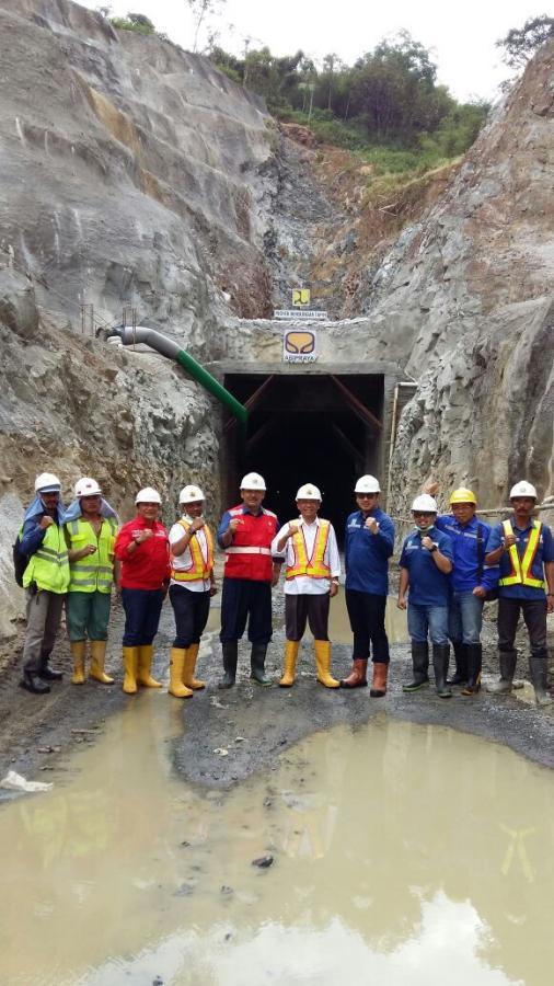 Blasting Terowongan Pengelak Bendungan Tapin, Kab.Tapin, Prov.Kalsel per Tgl 19 Agustus 2017 hari Sabtu jam 13.00 Wita