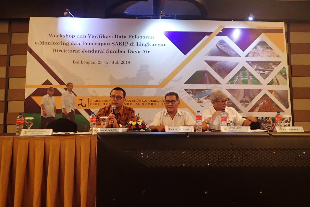 Workshop dan Verifikasi Data Pelaporan eMonitoring dan Penerapan SAKIP di Ditjen SDA