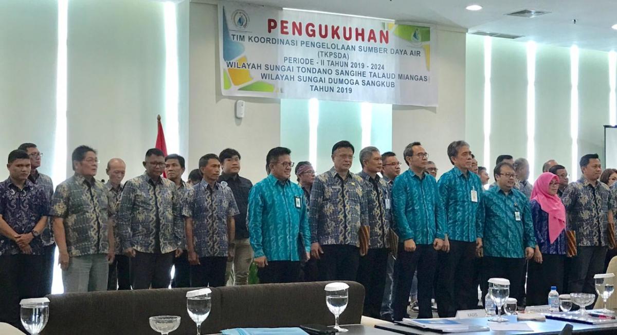 Pengukuhan Anggota TKPSDA 2 WS di Sulawesi Utara