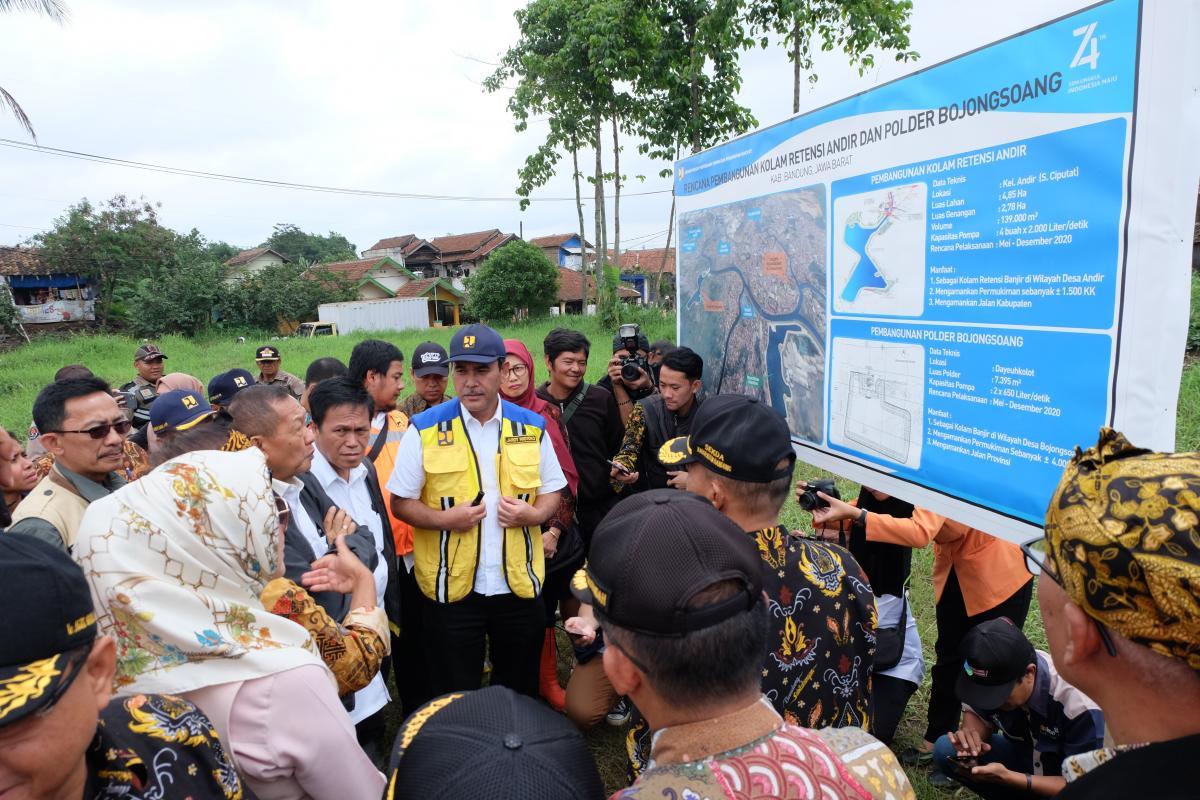 DPR RI Tinjau Pembangunan Kolam Retensi Andir dan Terowongan Nanjung
