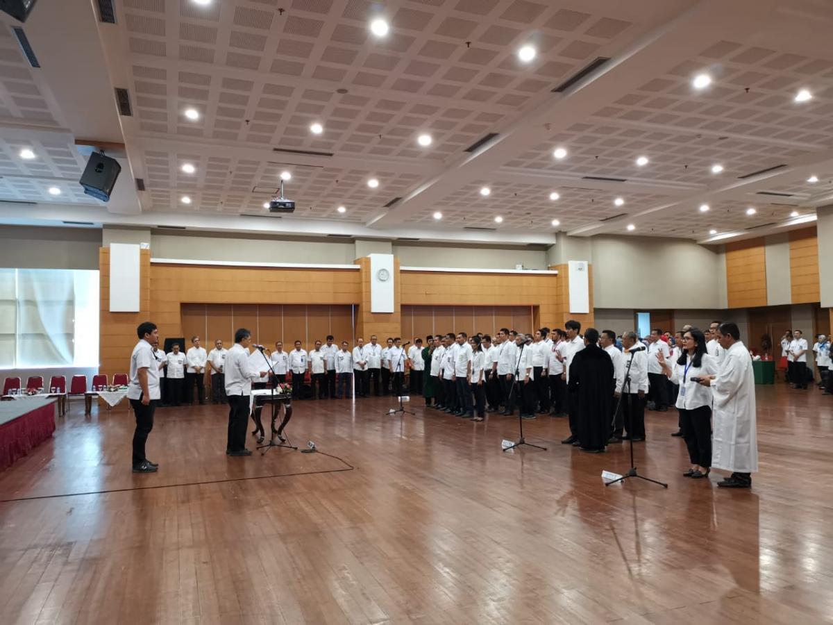 Dirjen SDA Lantik 48 Pejabat Pengawas, Jafung dan Satker