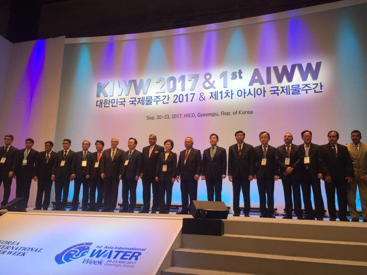 Pembukaan acara KIWW dan 1st AIWW di Korea Selatan