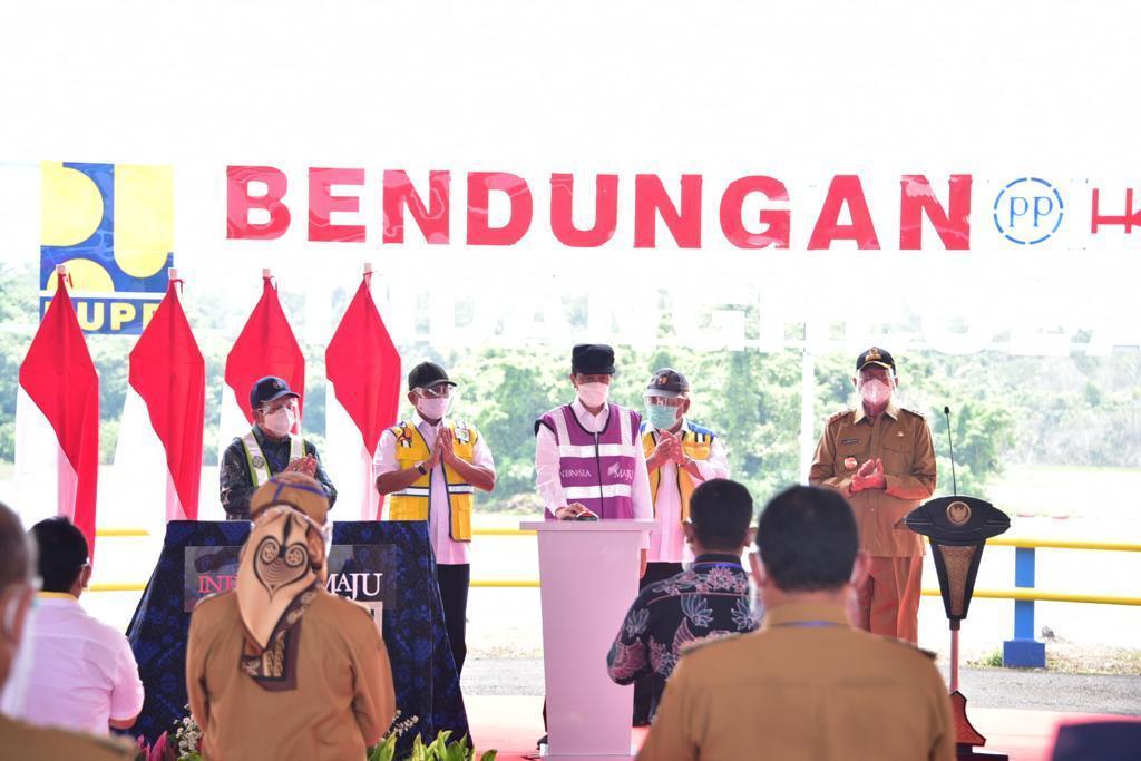 Presiden RI Joko Widodo Resmikan Bendungan Sindangheula