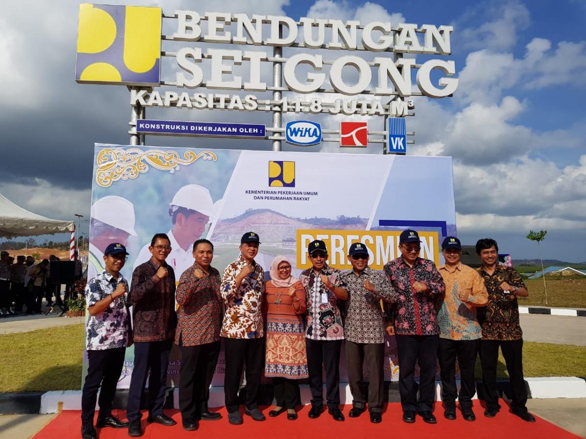 BWS Sumatera IV Menjawab Permasalahan Air Baku Kota Batam Dengan Mulai diisinya Bendungan Sei Gong