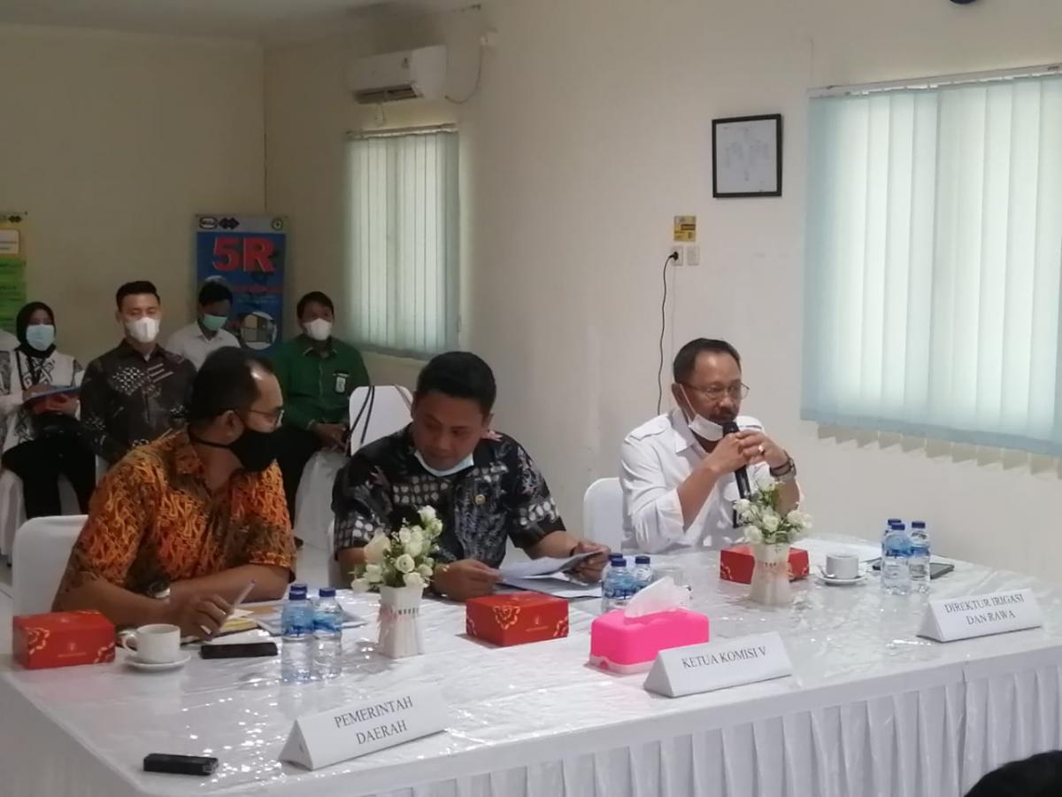 Komisi V DPR RI Kunjungi Daerah Irigasi Pamarayan Barat