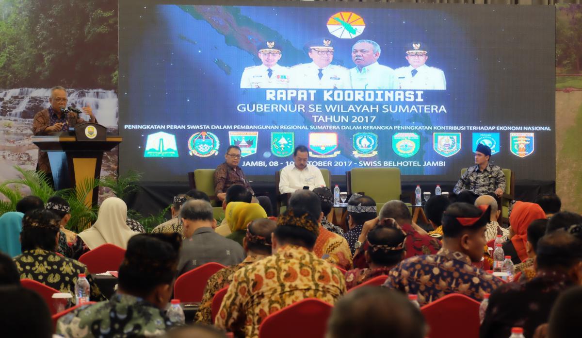 Rakor Gubernur Wilayah Sumatera, Menteri Basuki: 2018, Sumatera Siap Berbenah