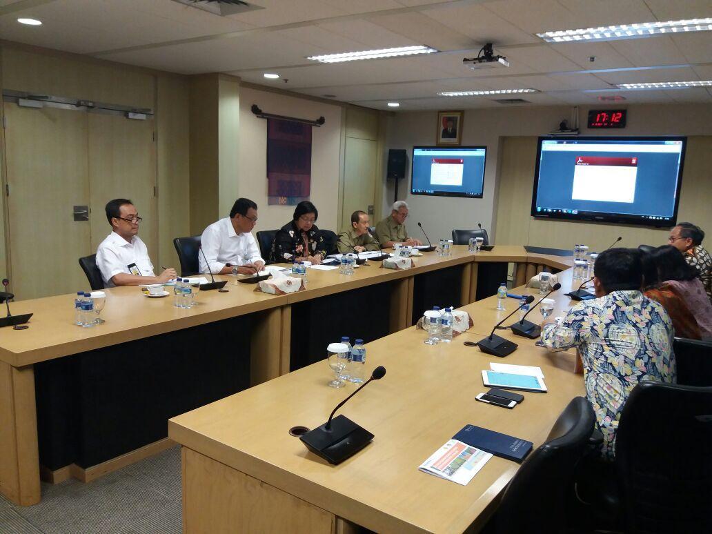Rapat rencana kunjungan Presiden ke Muara Gembong dengan Dirjen SDA ,Dirjen Kehutanan dan Menteri BUMN di Citarum