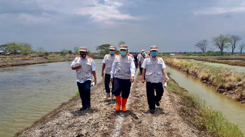 Siaga 500 di Lokasi Rehabilitasi Jaringan Tambak Gunungjati dan Suranenggala Kabupaten Cirebon