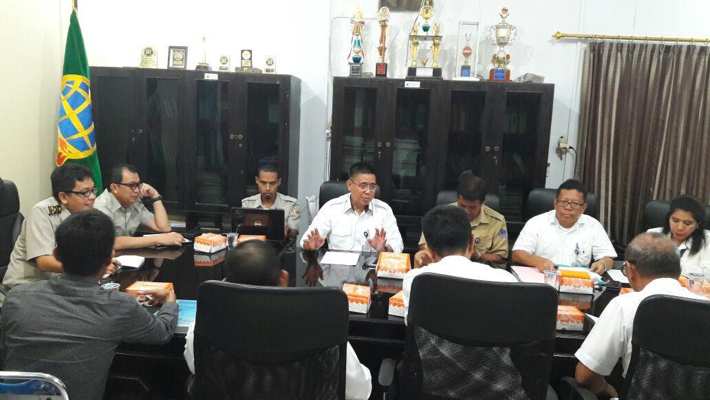 Rapat bersama Kanwil BPN. Sulut, BPKP, Pemprop, Pemkab Minut, Appraisal utk kelanjutan pembayaran Lahan Bendungan Kuwil Kawangkoan dan Lolak
