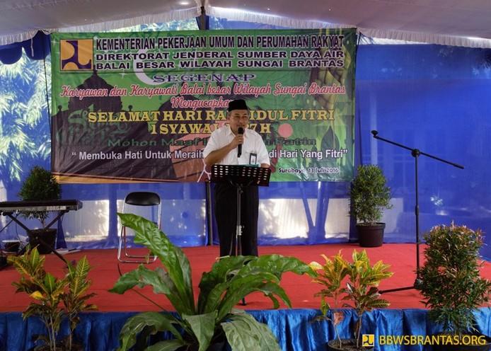 Syukuran Predikat BBWS Brantas di acara Halal Bihalal