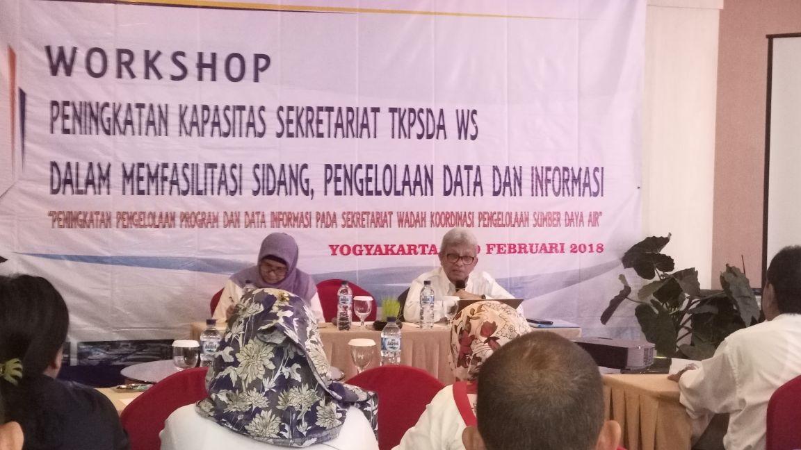 Workshop Peningkatan Kapasitas Sekretariat TKPSDA WS Dalam Memfasilitasi Sidang Pengelolaan Data dan Informasi
