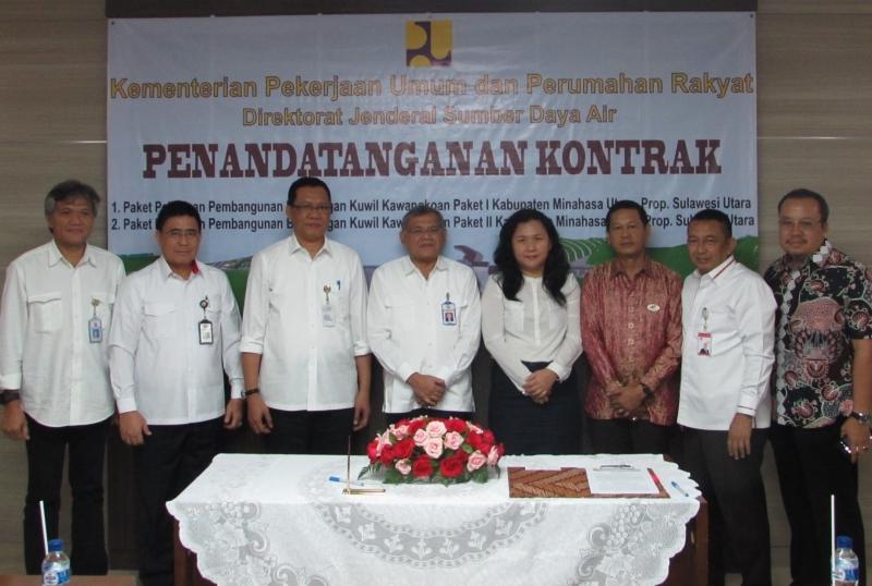 Penandatanganan Kontrak Pembangunan Bendungan Kuwil Kawangkoan