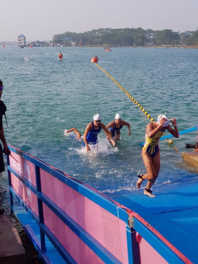 Lomba Triathlon di Jakabaring Sport City