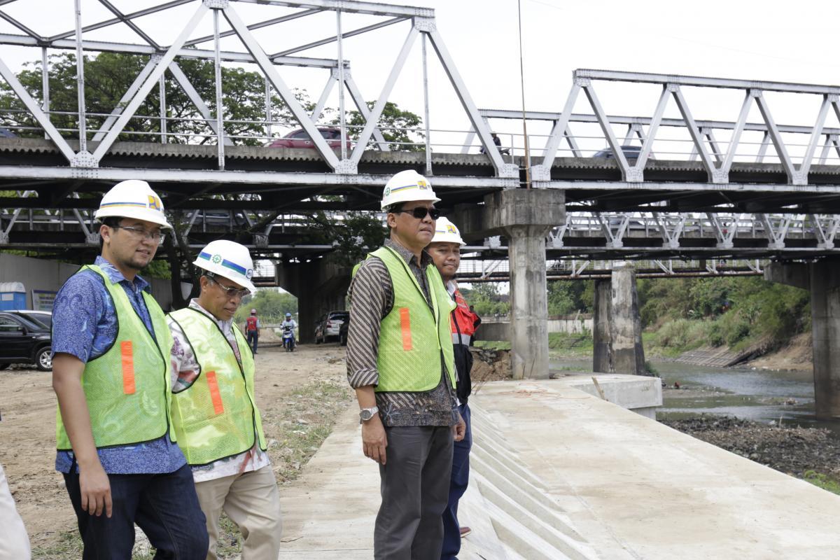 Kunjungan Lapangan Direktur Jenderal SDA, ke Pengendali Banjir Surakarta