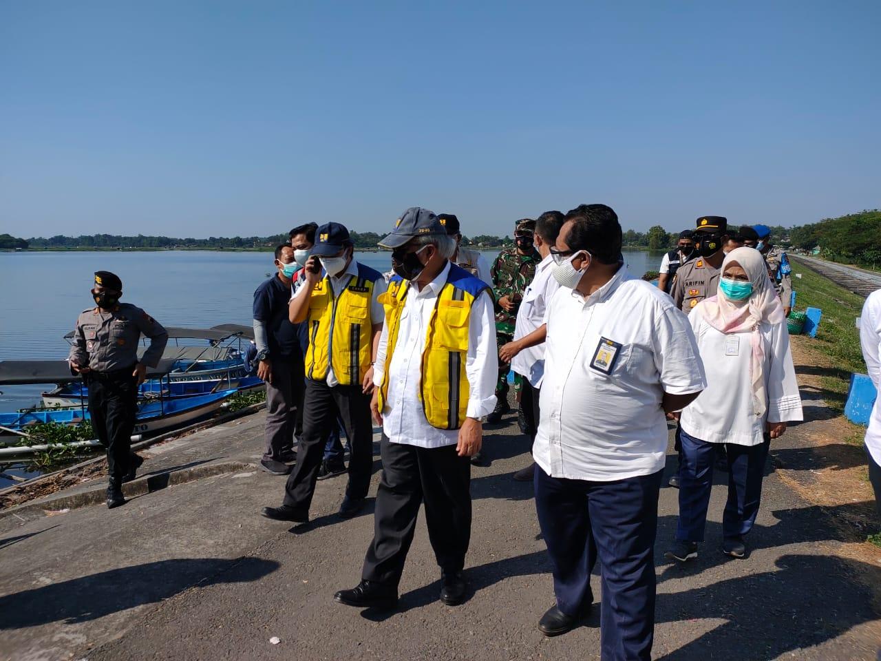 Menteri PUPR Meninjau Infrastruktur Bendungan di Wilayah Sungai Bengawan Solo