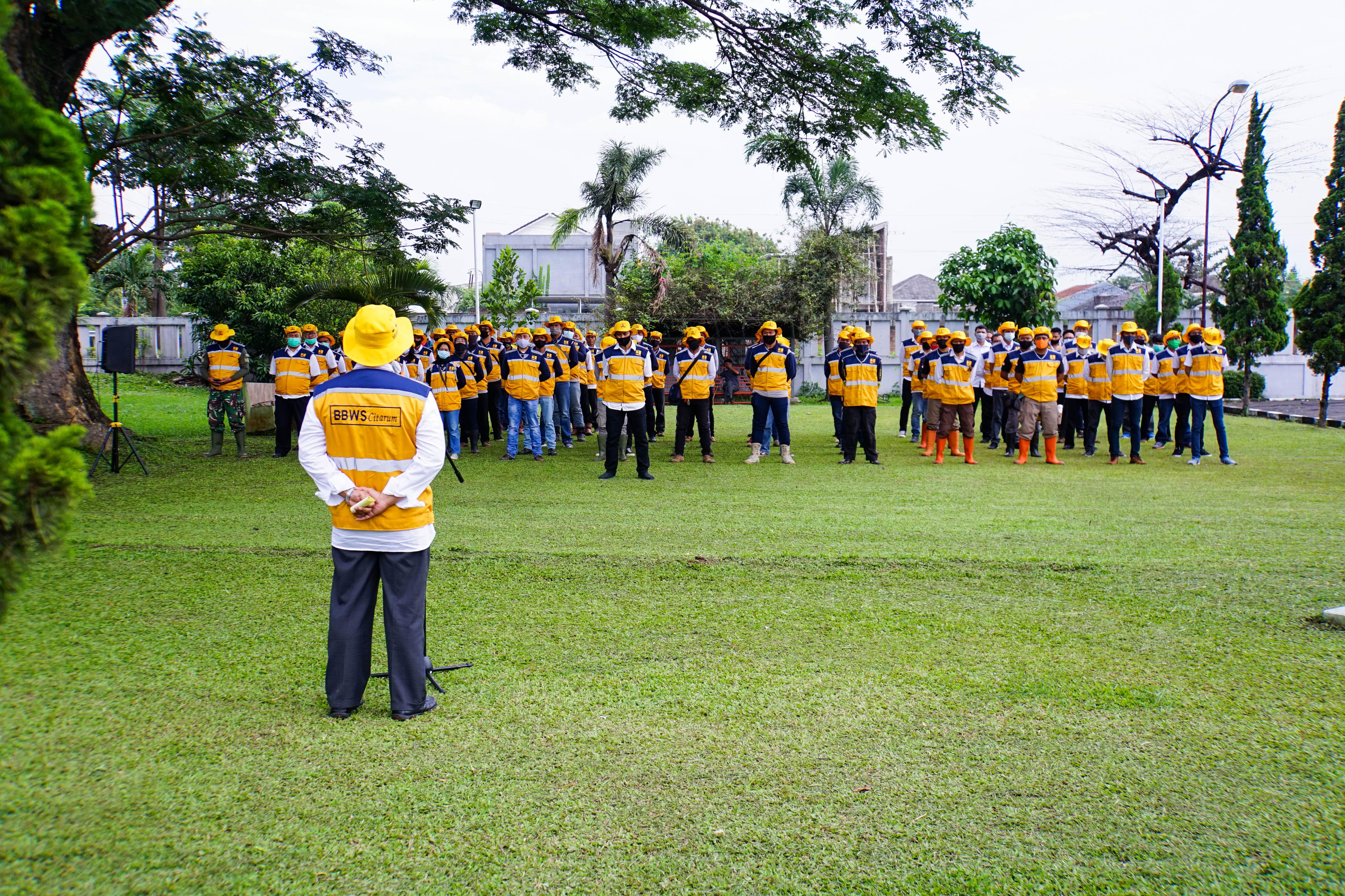 Apel Siaga Satgas Banjir BBWS Citarum