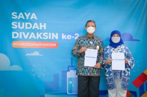 Vaksinasi Covid-19 Tahap Kedua Pegawai Kementerian PUPR di Kota Bandung